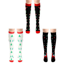 1 Pair Sports Compression Socks Christmas Theme Printed Stockings For Men Women