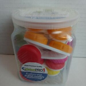 Contact Lens Cases Plus Storage Jar Pack of 12 VisionPro1