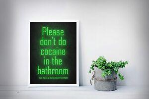 Poster IN A3 Pop Art Cocaine Koks Poster Scarface Bathroom Various Motives