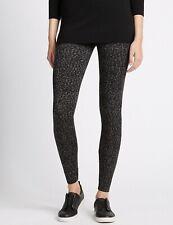 "BNWT Ladies M&S Animal Print Leggings Size 14 Length 27"" Grey Mix"