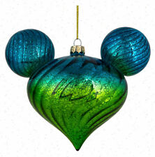 Disney Parks Blue Green Ombre Twist Icon Ornament