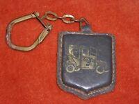 Porte-clés key ring  ESSO SERVICE HENTSCHEL Phalsbourg + Tacot 1900 Blason cuir