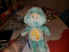 "Vintage 1983 Kenner Care Bears Wish Bear 13"" Plush Blue Bear Doll"