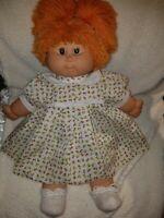 "Vintage Baby Doll B.B. Made In Spain Yarn Red Hair Blinking Eyes Girl Rare 19"""