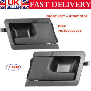 Inner Right& Left Handle Set For Volkswagen VW Transporter T4 Front Door Side UK