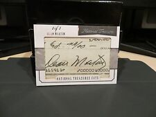 National Treasures Treasured Cuts Autograph Dean Martin 1/1 2015