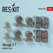RESIN WHEELS SET  FOR MIRAGE F.1 1/48 RESKIT 48-0035