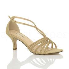 Scarpe da donna slim cinturini alla caviglia oro