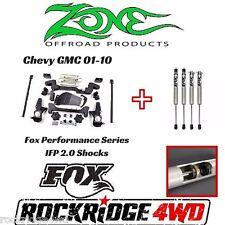 "ZONE 6"" Chevy GMC 01-10 IFS Lift Kit 1500HD/2500/3500 w/ Fox Performance Shocks"
