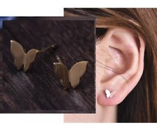 Minimal Dainty Delicate Gold Butterfly Petite Stud Earrings Climber Crawler