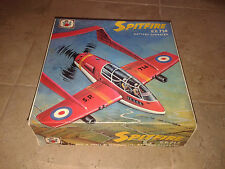 """Amazing vintage 70's """"Spitfire airplane"""" S.P.714   made in Greece!! New!!"""