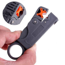 Rotary Wire Stripper Cutter Tool Coaxial RJ45 RG 59 6 58 62 6QS 3C 4C 5C Coax