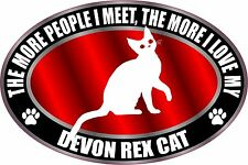 THE MORE I LOVE MY DEVON REX CAT STICKER