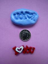 Iloveyou Silicona mould/mold de polímero de arcillas, alimentos, Jabón, metales preciosos de arcilla.