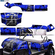 Yamaha Golf Cart Graphic Kit Decal Sticker Parts 2 Seater Wrap 95-06 REAP BLUE