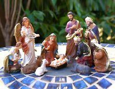 Jesus Nativity Scene Large Statue Set Christmas Crib Figurines Church Miniatures