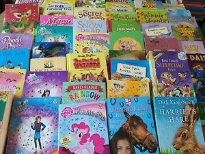 Childrens Kid Fiction Reading Story Book Bundles x 10 Various Books PB/HB Age 5+