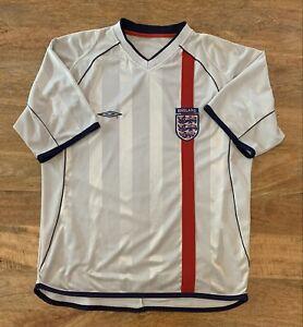 England Football Team Shirt Jersey Vintage Umbro Mens Large