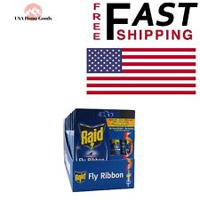 Raid Fly Ribbon Trap Insect Killer Mosquito Catcher 10-Pack Bug Pest Control