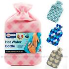 """2 Liter Hot Water Bottle Rubber Bag Warm Relaxing Heat Cold Therapy 12x8"""""""