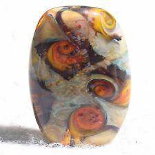 JURA Handmade Art Glass Focal Bead Flaming Fools Lampwork Art Glass SRA