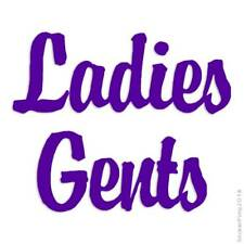 Ladies Gents Decal Sticker Choose Color + Size #2549