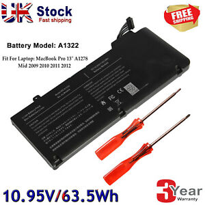 For Apple MacBook Pro 13 inch Battery Mid 2009 2010 2012 Early/Late 2011 A1278