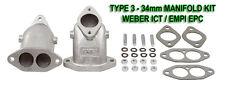New VW Type 3 Weber ICT EMPI EPC Dual Port Intake Manifolds