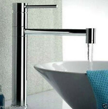 Tall Bathroom Countertop Basin Faucet Chrome Finish Single Handle Mixer Tap