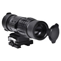 Tactical 3X Magnifier Sight Scope Flip Up Red Dot Sight Airsoft 20mm Rail Mount