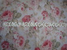 """Antique Carved Rose & Leaf Garland Molding 30"""" Furniture Applique Architectural"""