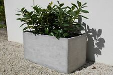 "Pflanzkübel Blumenkübel ""Maxi"" 80 aus Fiberglas, Beton-Design, Grau"