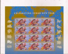 CELEBRATING LUNAR NEW YEAR-12 USA mint stamps-2011.