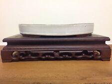 White Glazed Oval Bonsai Pot (25x18x4cm)