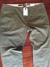 RELWEN RELWEN THE BRUST GREEN OLIVE  CHINO PANTS RRP W 36 ) $ 198.00