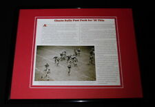 1938 NFL Championship Giants vs Packers Framed 11x14 Photo Display Don Hutson