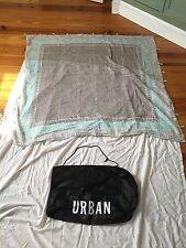 "Urban Outfitters Drawstring Shopping Bag + BOHO Fringe Scarf 56 x 56"""