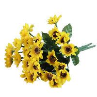 Artifical 14 Heads Fake Sunflower Silk cloth Flower Bouquet Home Floral Wed B2L5