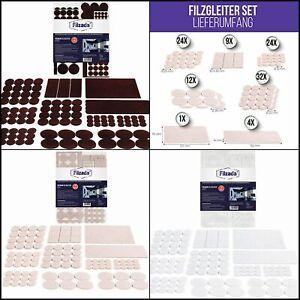 Feltrini Autoadesivi 106 Pezzi Quadrato e Tondo - Feltro Sotto Sedie Vari Colori