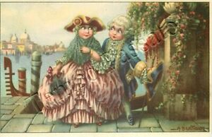 Dama e gentiluomo a Venezia - 1942 / illustratore Bertiglia