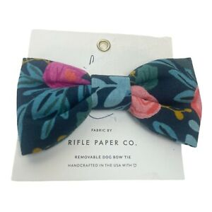 The Foggy Dog X Rifle Paper Co Floral Dog Bow Tie Size XS