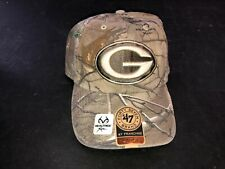 Green Bay Packers 47 Brand Franchise Realtree CAMO Fitted HAT Size Large