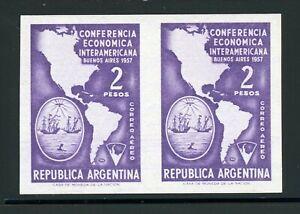 Argentina MNH Specialized: Scott #C66 2P Economic Conference IMPERF PAIR $$$