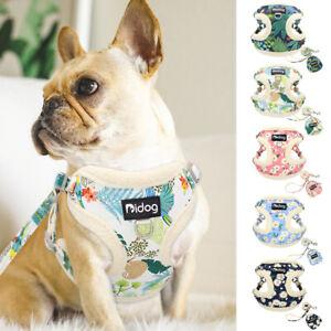 Soft Mesh/Fleece Dog Cat Harness and Leash & Treat Bag set Girl Boy Walking Vest