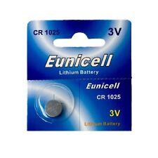 1 x CR1025 3V  Lithium Batterie auf 1 Blistercard a 1 Stück Eunicell