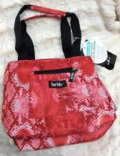 """NWT NICOLE MILLER INSULATED LUNCH HAND TOTE BAG COOLER 11"""" PYTHON Red FREE S/H!"""