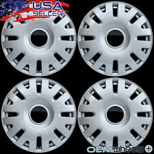 """4 NEW OEM SILVER 15"""" HUB CAPS FITS FORD SUV CAR TRUCK CENTER WHEEL COVERS SET"""