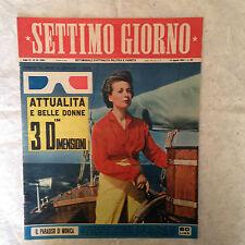 RIVISTA SETTIMO GIORNO 33 8/1953 MONICA CLAY ALIDA VALLI GRETA GARBO