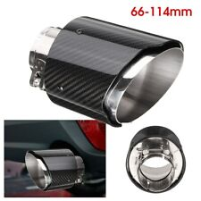 2.6in 66-114mm Universal Carbon Fiber Car Auto Exhaust Pipe Tail Muffler End Tip