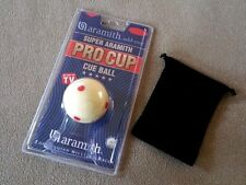 New SUPER ARAMITH PRO CUP Cue Ball 6 Red Spots Measles Ball, FREE Carrying Pouch